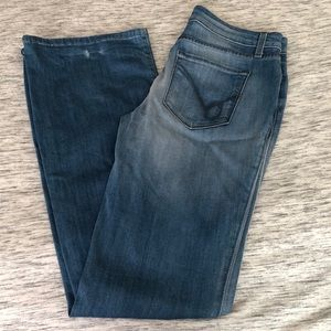 Bebe flare light denim jeans. Size 28.